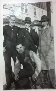 From left to right: Clifford Barnes, C.D. Barnes, Jack Barnes, and (kneeling) Ed Barnes.