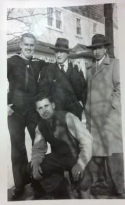 From left to right: Clifford Barnes, C.D. Barnes, Jack Barnes, and (kneeling) Ed Barnes.
