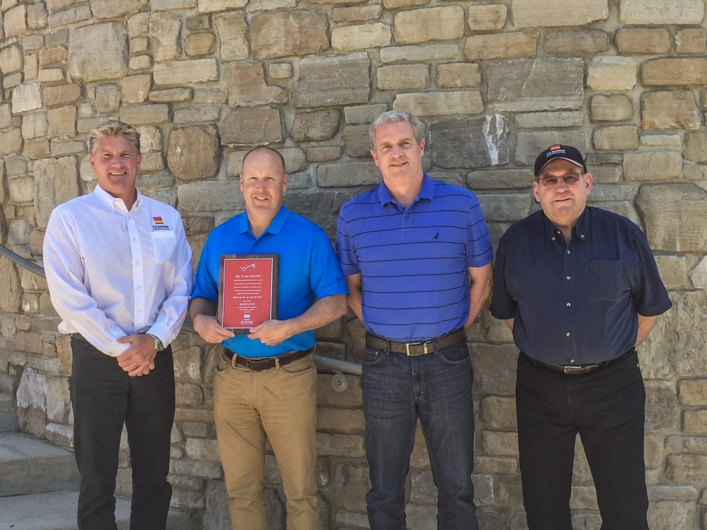 Pictured from left to right is: Todd Oosting, Executive Vice President, CD Barnes – Steve Hansma, Chief Electrical Engineer, Allied Electric – Tom Snellink, Project Manager, Allied Electric – Chris Westover, Project Manager, CD Barnes