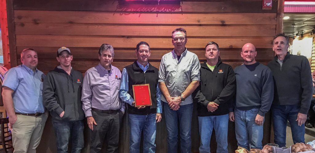 CD Barnes Construction presents Standard Lumber & Supply with Key To Our Success Award
