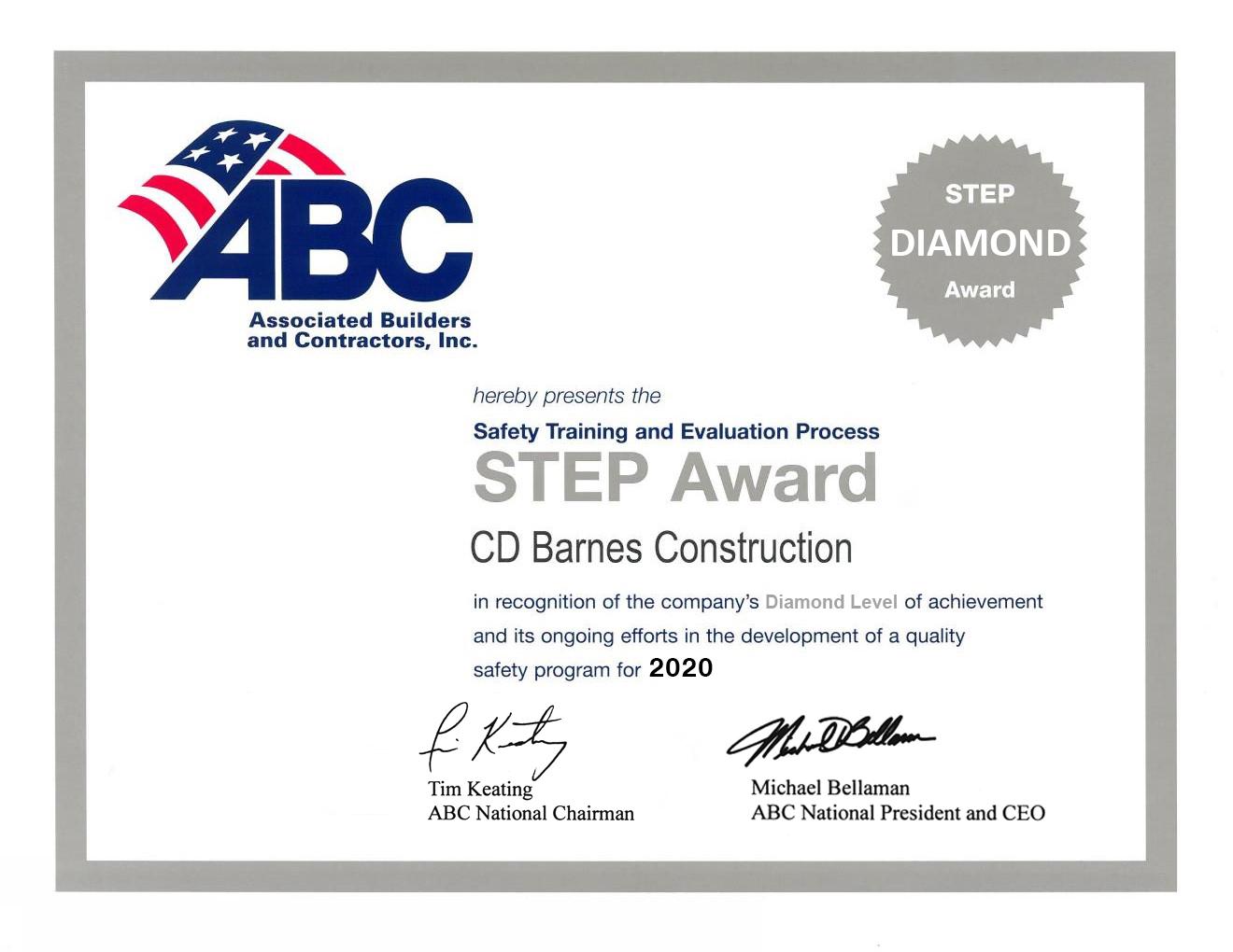 Diamond STEP Award 2020